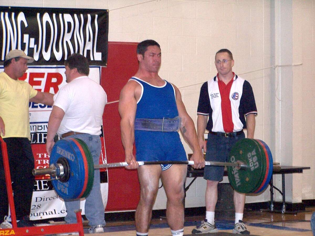 Mayor-elect Ron Nirenberg during his days as a competitive strength athlete, sometimes known as strongman competitor.