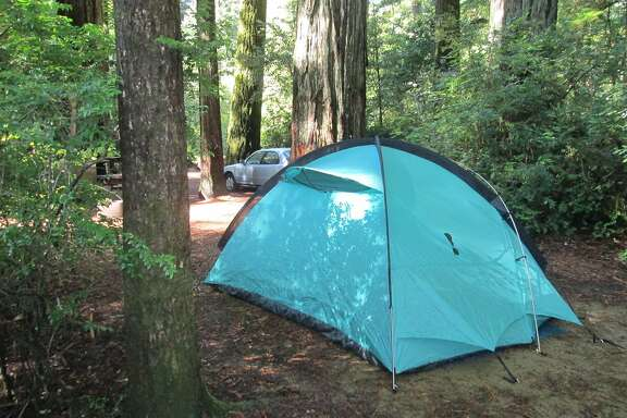 Drive-in campsites at Butano State Park near Pescadero in San Mateo County are nestled in redwoods. The park has many sites, both drive-in and walk-in available starting August 24 (2015) -- except for Saturday nights and few Fridays