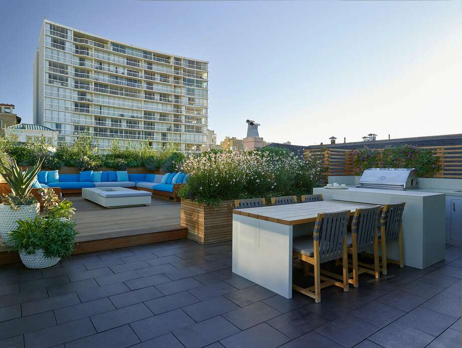 Monica Viarengo and husband Brett Terpeluk designed this 2,000-square-foot Pacific Heights terrace. Photo: Marion Brenner