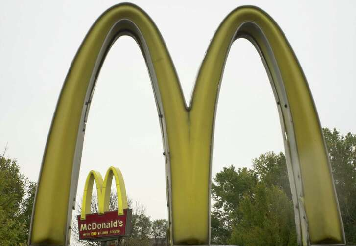 The famous golden arches are seen at a McDonald's in Omaha, Neb. McDonald's Corp. has ended its Olympic sponsorship deal three years early. The International Olympic Committee says confidential financial terms of the immediate separation were agreed to.