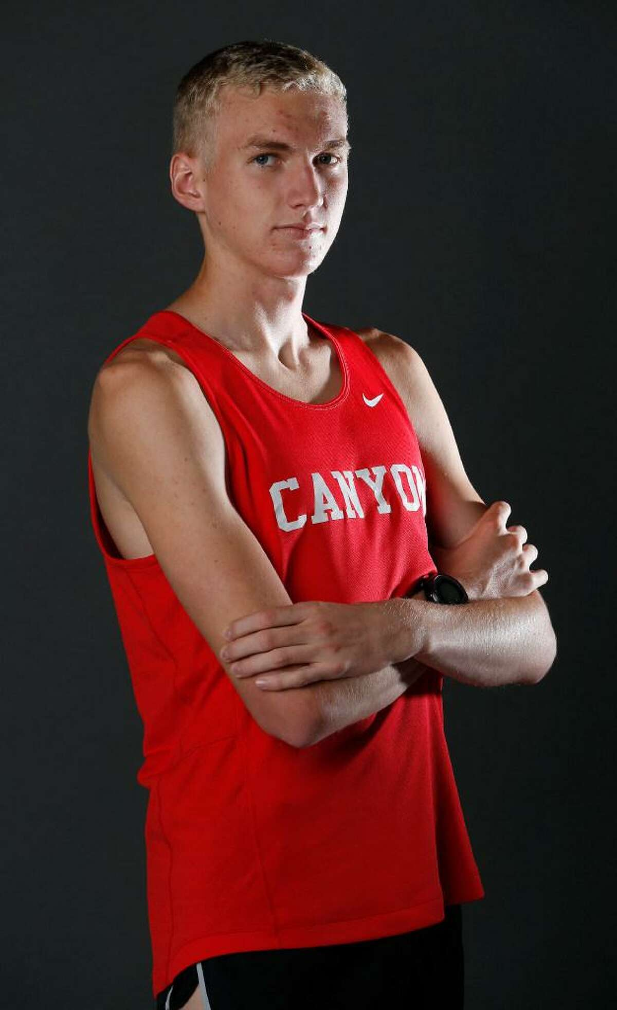 Portrait of New Braunfels Canyon senior Sam Worley, Boys All-Area Track Athlete of the Year Sunday May 21, 2017.