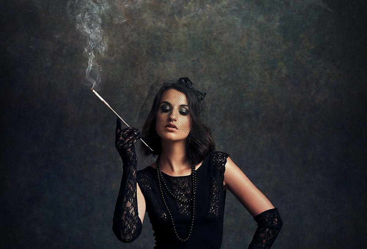 A man has a fetish of woman smoking cigarettes.