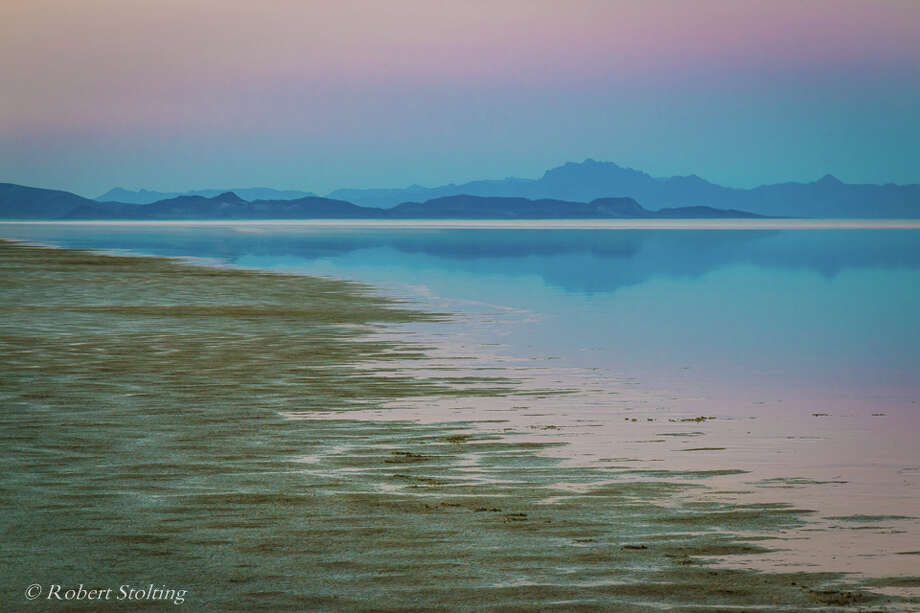 After heavy winter storms, an ephemeral lake formed in Nevada's Black Rock Desert. Robert Stolting photographed its natural beauty in June 2017. A lot of the water has since evaporated and only large puddles less than an inch deep remain. Photo: Robert Stolting
