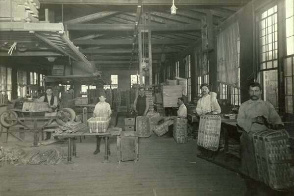 photo courtesy of Shelton History Center 925-1803 Shelton's Canal Street area basket factory c.1910 CT POST