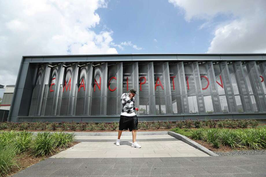 Emancipation Park reopened in 2017 after a $33 million redevelopment. Photo: Steve Gonzales, Staff / © 2017 Houston Chronicle