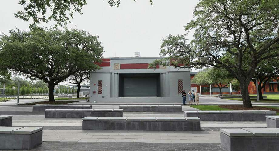 Renovations at Emancipation Park, which includes an outdoor stage,  took about four years. The park will be decidated on Saturday with the celebration to continue Monday.  Photo: Steve Gonzales, Staff / © 2017 Houston Chronicle