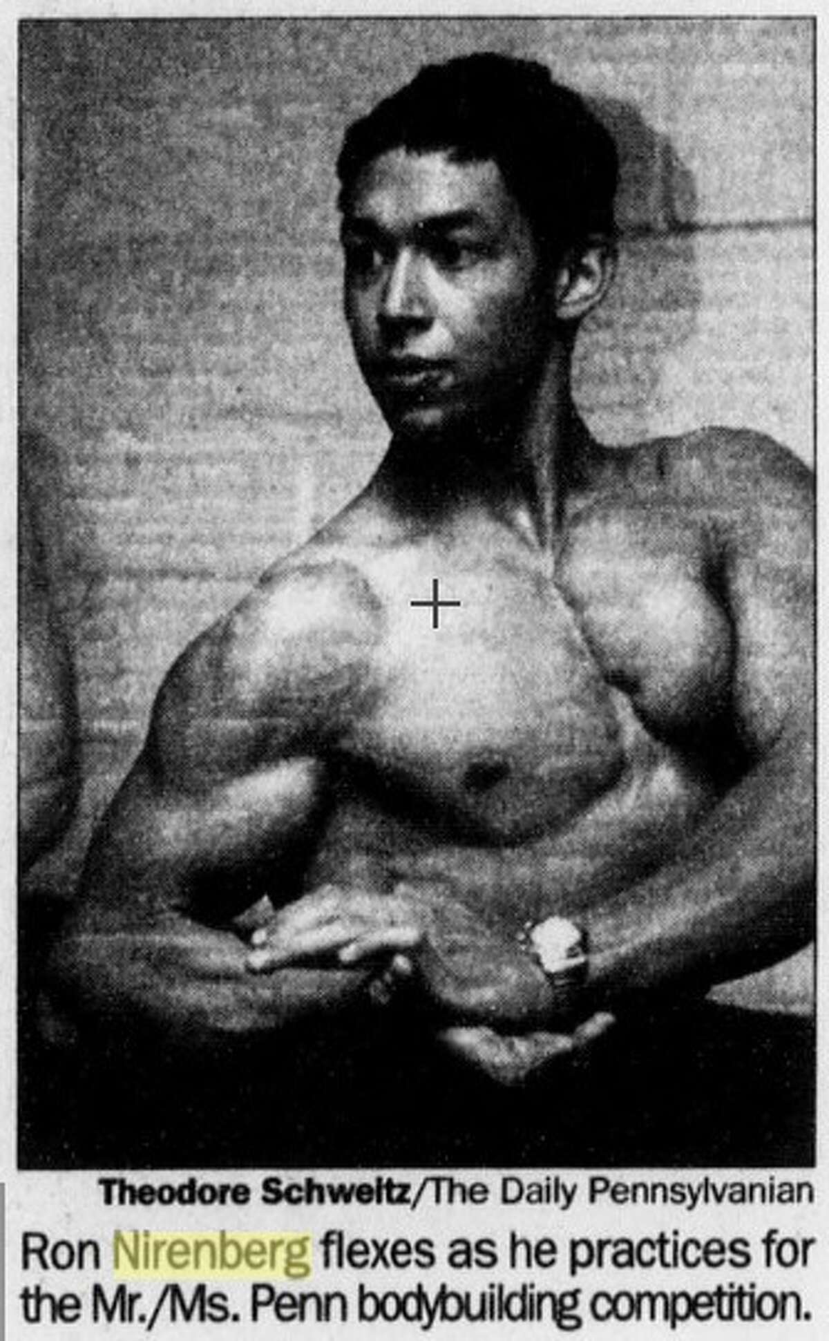 Ron Nirenberg appears in the University of Pennsylvania's newspaper The Daily Pennsylvanian in November 2000 ahead of a bodybuilding competition at the university.