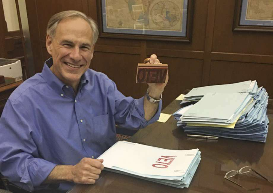 HB 2783: Authored by State Rep. John Smithee, R-Amarillo, the bill would have made it easier for Texas Public Information lawsuit filers to recover attorneys' fees. The Bill passed through the Texas Senate and House, but was vetoed by Governor Greg Abbott. Photo: Houston Chronicle File Photo