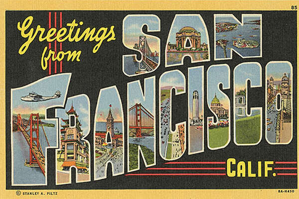 Vintage postcards from the 1939-1940 Golden Gate International Exposition depict a bygone San Francisco.