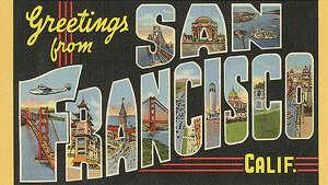 Vintage postcards from the 1939-1940 Golden Gate International Exposition depict a bygone San Francisco.