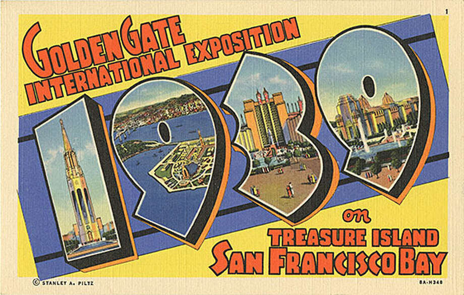 Vintage postcards from the 1939-1940 Golden Gate International Exposition depict a bygone San Francisco. Photo: Courtesy: Treasure Island Museum