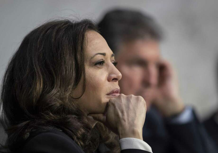 Sen. Kamala Harris listens to testimony from top national security chiefs during a recent Senate Select Committee on Intelligence hearing. Committee Chairman Sen. Richard Burr chastised Harris for interrupting Deputy Attorney General Rod Rosenstein, and now a reader chastises Burr. Photo: J. Scott Applewhite /Associated Press / AP