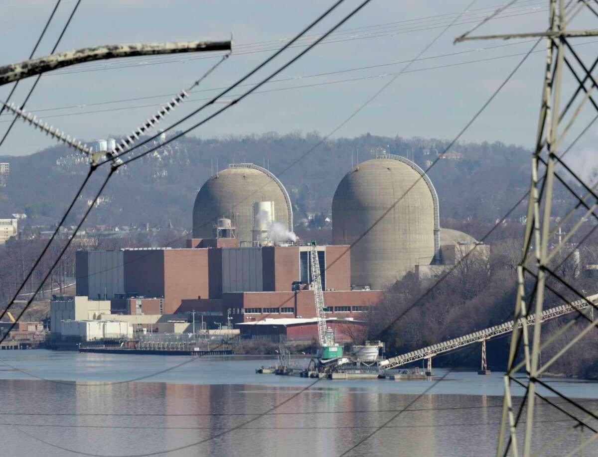 Indian Point Energy Center is seen in Buchanan, N.Y., Tuesday, Feb. 28, 2017. (AP Photo/Seth Wenig) ORG XMIT: NYSW104
