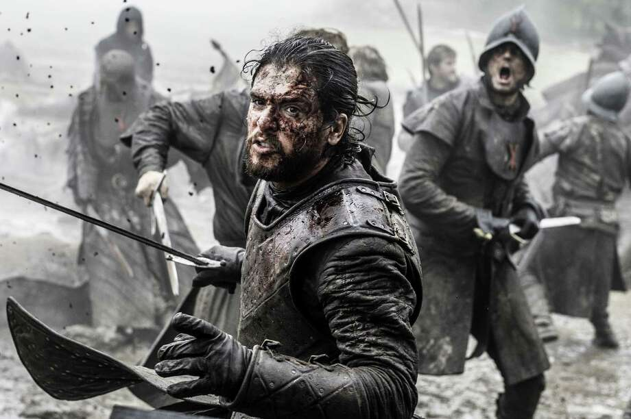 "In this image released by HBO, Kit Harington appears in a scene from ""Game of Thrones."" HBO said that the series will return for its seventh season on Sunday, July 16. (Helen Sloan/HBO via AP) Photo: Helen Sloan, HONS / HBO"