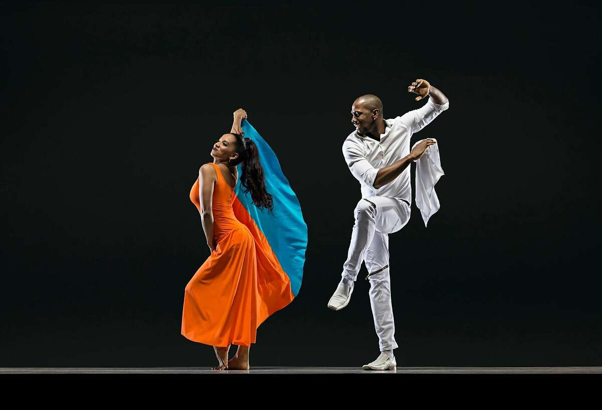 Yismari Ramos Tellez and Denmis Bain Savigne of Alayo Dance Company, which will be featured June 8 and 9 at the 2017 San Francisco Ethnic Dance Festival. Festival runs July 8 -16 at the War Memorial Opera House. Photo Credit: RJ Muna