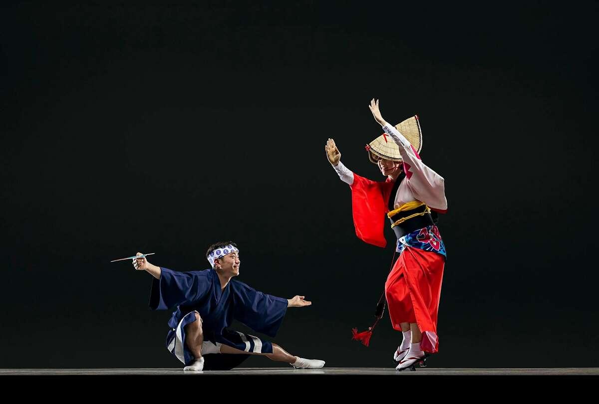 Genki Watanabe and Kristu Tsukida of San Francisco Awakko Ren, which will be featured June 8 and 9 at the 2017 San Francisco Ethnic Dance Festival. Festival runs July 8 - 16 at the War Memorial Opera House. Photo Credit: RJ Muna