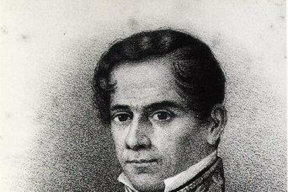 Gen. Antonio López de Santa Anna had just turned 42 when he and his army arrived at the Alamo in 1836. Variations of this engraved portrait have been found with different dates; this one is dated 1844.
