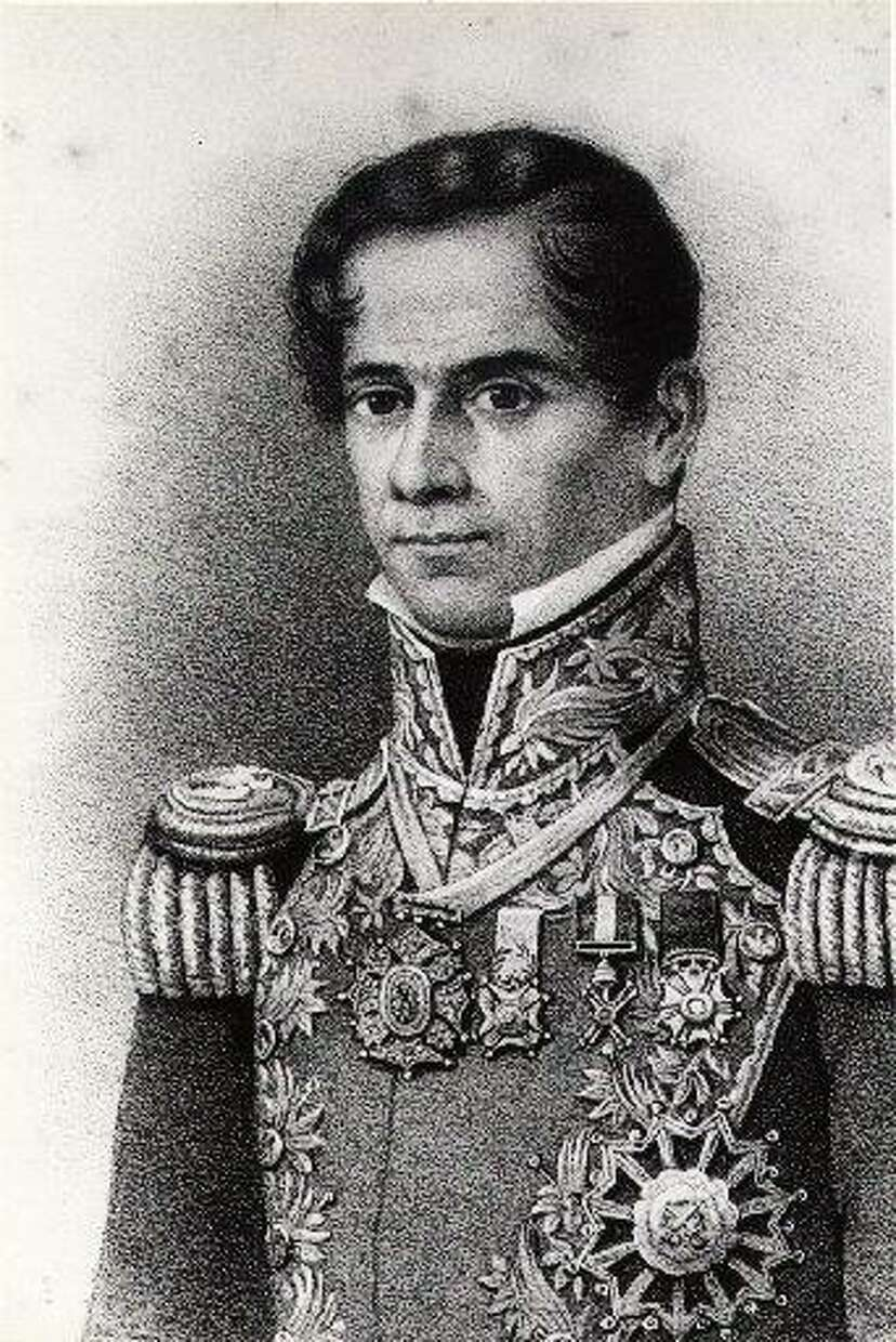 Gen. Antonio López de Santa Anna had just turned 42 when he and his army arrived at the Alamo in 1836. Variations of this engraved portrait have been found with different dates; this one is dated 1844. Photo: Special Collections, M.D. Anderson Library / University Of Houston-University Park