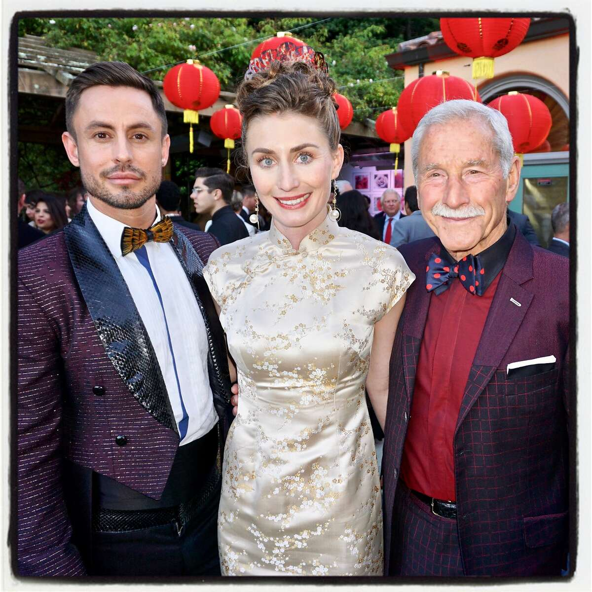 Hotbed Gala co-host Galen Drever (left) with his sister, Isabelle, and father, Maxwell Drever. June 10, 2017.