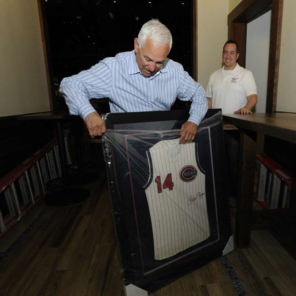 Bobby Valentine Unwraps A Signed Pete Rose Jersey That Will Be Displayed At  The New Bobby