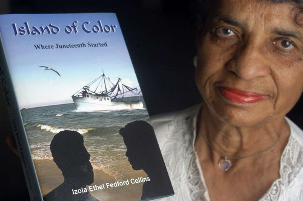 Izola Ethel Fedford Collins is the author of 'Island Of Color' about African Americans in Galveston and their contribution to the Island history. She died in June 2017 at the age of 87.
