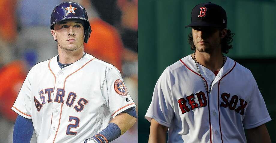 For third baseman Alex Bregman, the showdown between two of the top clubs in the American League also marked the first major league meeting between fellow highly-touted prospect turned good friend: Red Sox rookie outfielder Andrew Benintendi. Photo: AP Photo