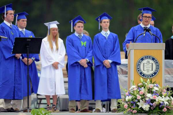 Darien High School Class of 2017 Commencement Exercises at the school in Darein, Conn., on Friday, June 16, 2017.