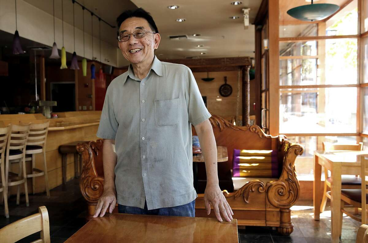 Owner William Lue, of Grocery Cafe a Burmese Restaurant, as seen on Friday June 16, 2017, is renovating a space in Jack London Square in Oakland, Ca. He expects to open his business in early July. The square is seeing an increase of new restaurants moving in.