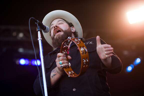 Nathaniel Rateliff performs at the Monterey International Pop Festival at the Monterey County Fairgrounds in Monterey, Calif. Friday, June 16, 2017.