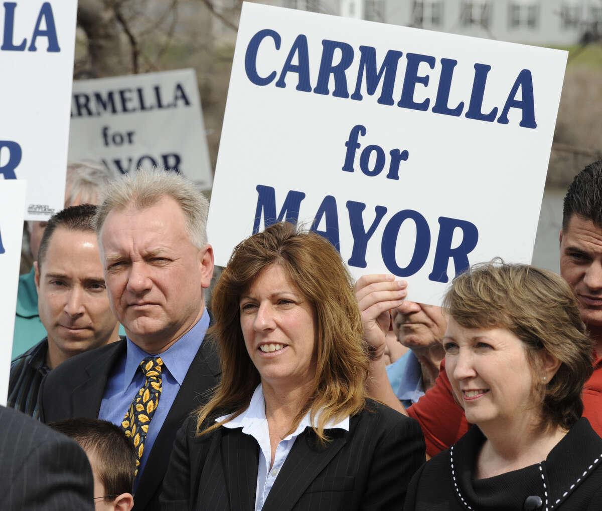 Carmella Mantello kicks off her Troy, N.Y. mayoral campaign in 2011. . (Skip Dickstein / Times Union)