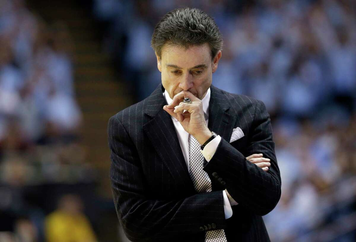 Of the penalties levied against his program for a sex scandal, Louisville coach Rick Pitino said,