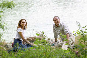 """Diane Lane as Anne Lockwood and Arnaud Viard as Jacques Clement in """"Paris Can Wait."""" MUST CREDIT: Eric Caro, Sony Pictures Classics"""