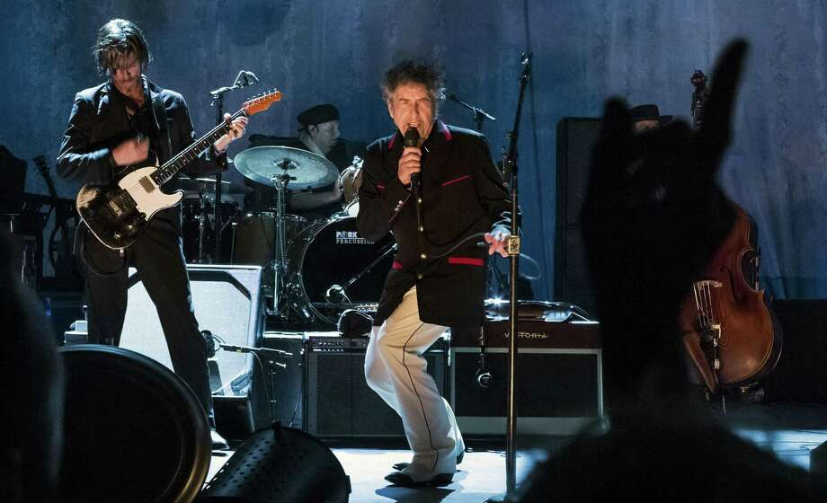 Bob Dylan performs at the Capitol Theatre in Port Chester, New York, in 2012, when he was the first performer in the re-opened venue. His three concerts there last week included the 500th show since its revival. Photo: The New York Times / NYTNS