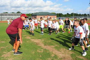 Cy Woods High School played host to roughly 75 elementary school athletes, from Robison, Farney, Black and Sampson elementary schools, last week for its annual youth skills camp. Chris Forcha, Cy Woods Running Backs Coach and head of the camp initiative, said that the five-day camp offered the coaching staff a unique opportunity to promote the sport of football and connect with the surrounding communities.