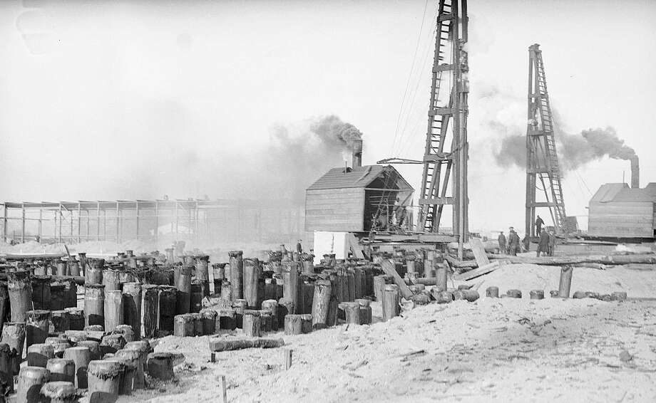 Port of Albany construction, 1931, in Albany, N.Y. (Albany County archive)