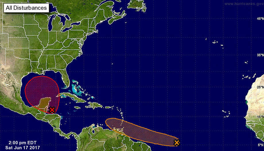 The chance for a tropical storm to develop jumped to 80 percent Saturday afternoon. 