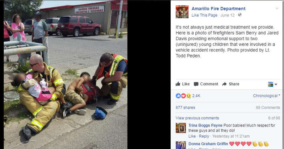 Since this photo was shared by the Amarillo Fire Department, it's received almost 900 shares.>>Keep clicking for a look at everyday people who found themselves going viral on social media.