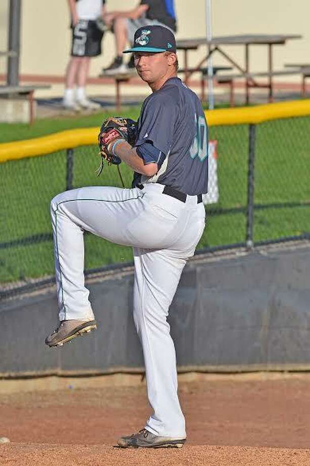 Newtown's Kyle Wilcox is having a successful season as a versatile reliever for the Clinton LumberKings, a Class A affiliate of the Seattle Mariners. Photo: Photo Courtesy Of The Clinton LumberKings