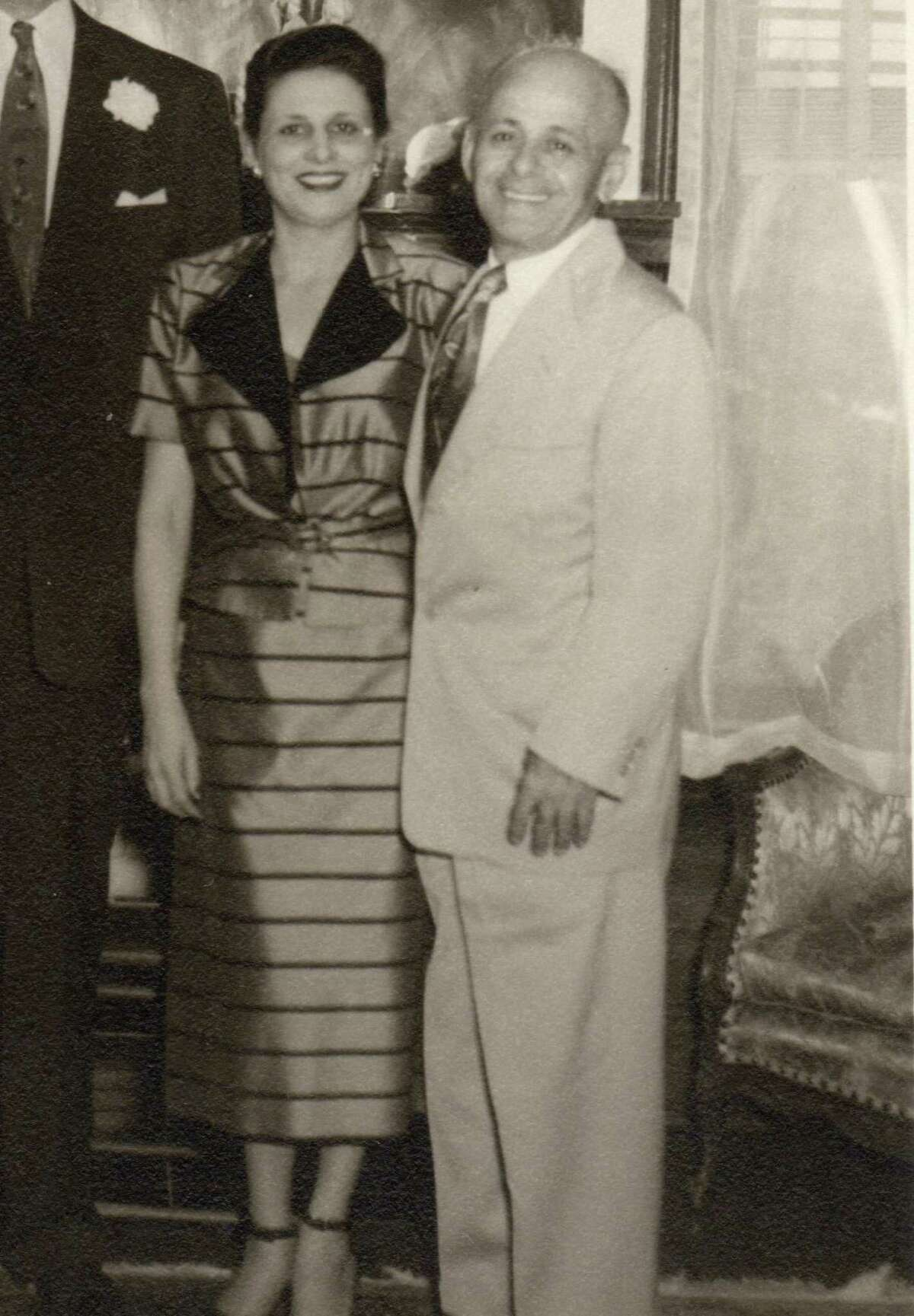Toffe 'Charlie' Satel and his wife Selma, who operated a tailoring business near Fort Sam Houston; they moved to Alamo Heights in 1931.