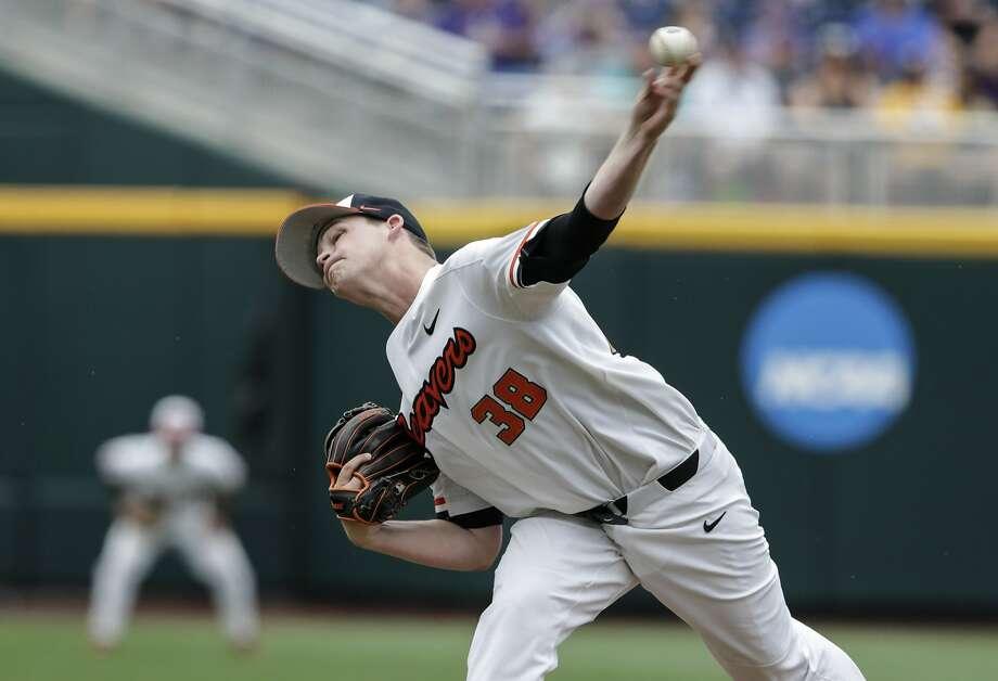 Jake Mulholland pitched 4 1/3  no-hit innings. Photo: Nati Harnik, Associated Press