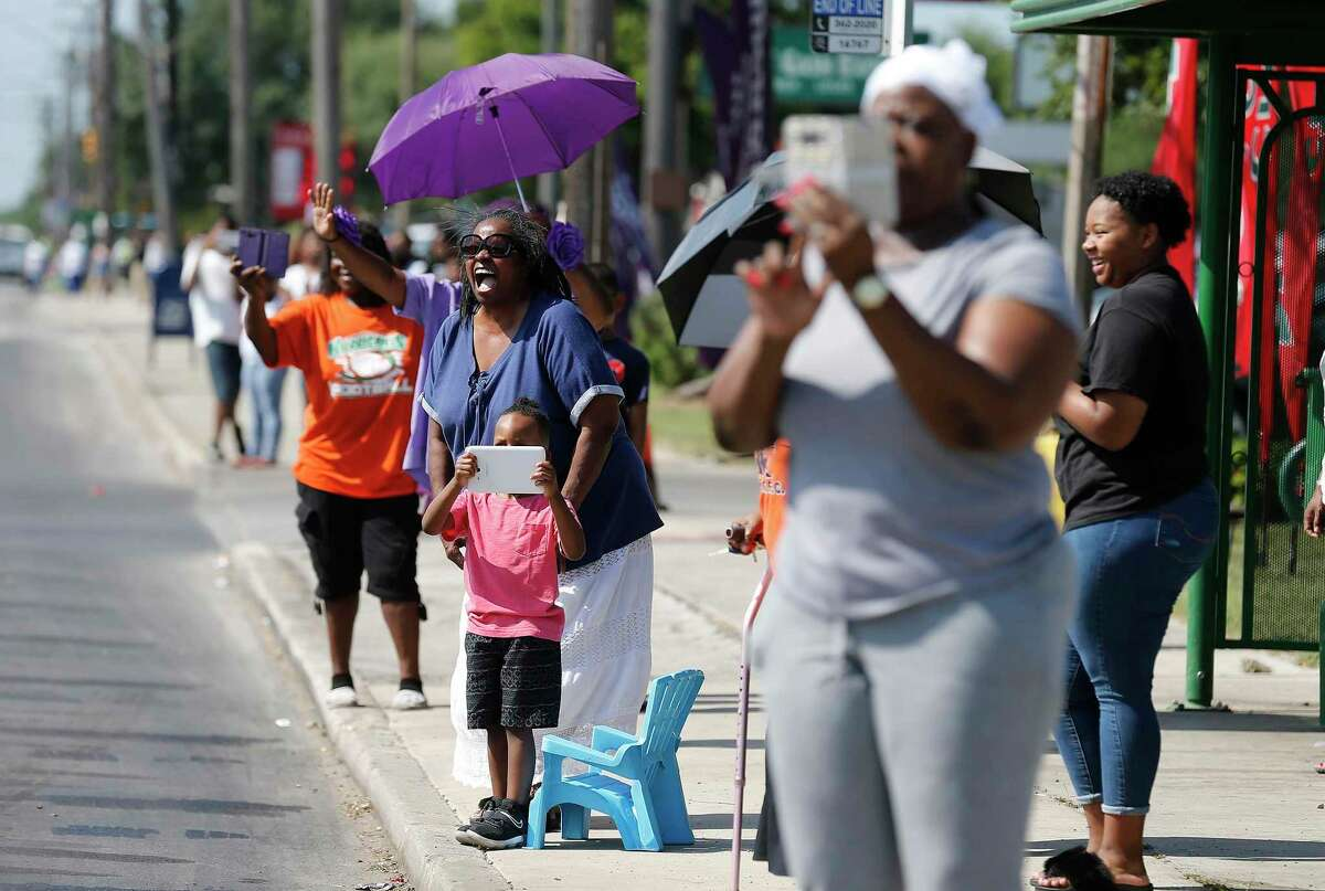 In this 2017 photo, San Antonians celebrate Juneteenth. It should be a national holiday. Like July 4, a celebration of independence and freedom.