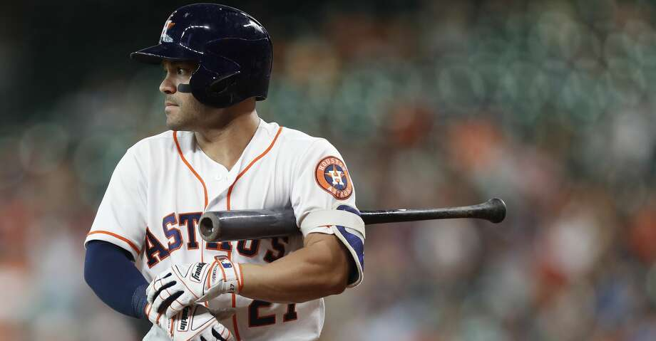 A season after his home run spike, Jose Altuve is seeing far fewer fastballs and more breaking balls. Photo: Karen Warren/Houston Chronicle