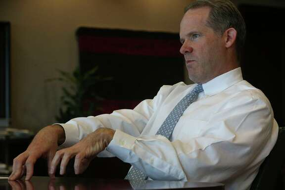 NuStar Energy CEO Brad Barron in his office in San Antonio. The company released its first quarter earnings on Thursday.