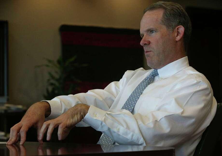 NuStar Energy CEO Brad Barron in his office in San Antonio. The company released its first quarter earnings on Thursday. Photo: John Davenport /San Antonio Express-News / ©San Antonio Express-News/John Davenport