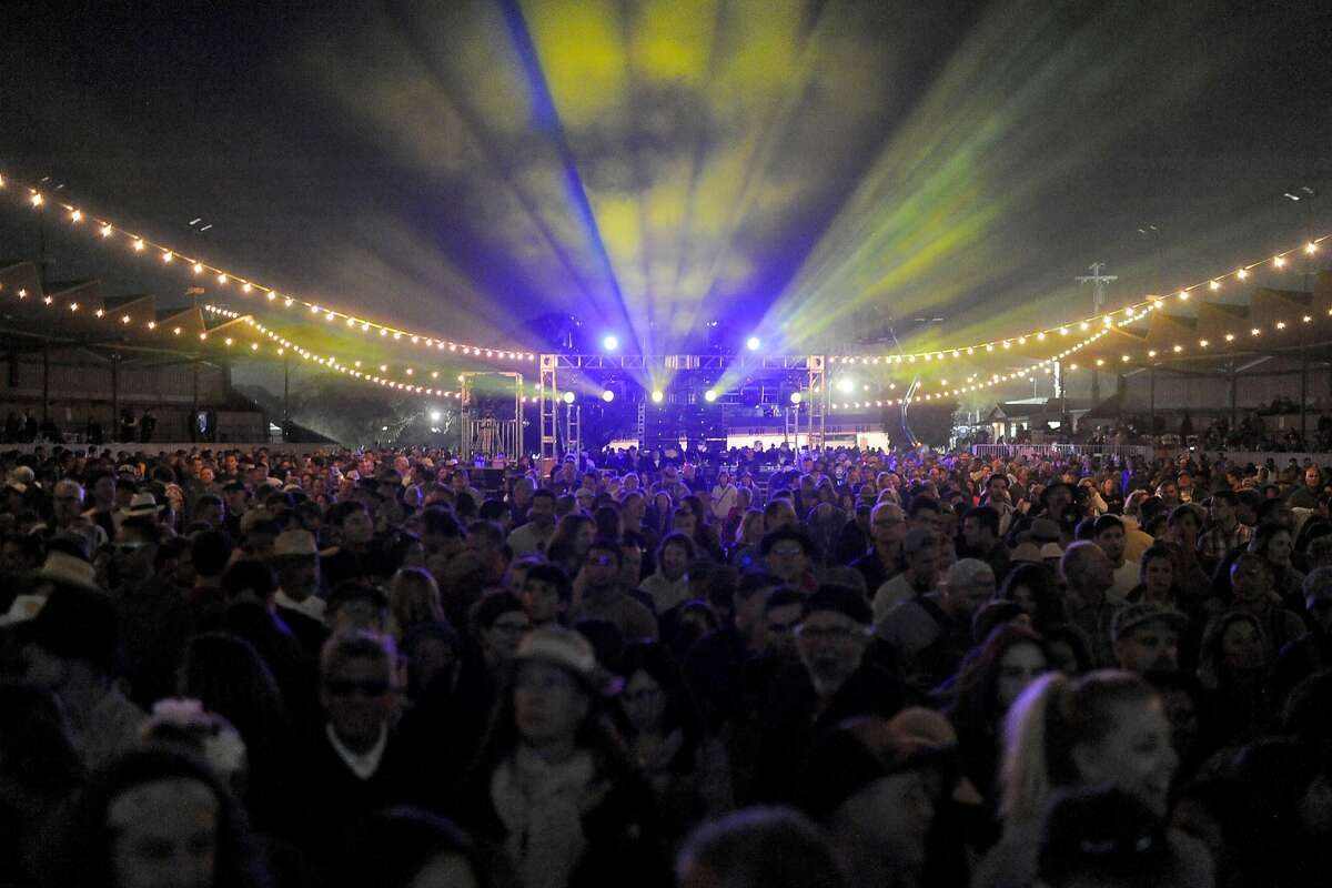 A large crowd awaits Jack Johnson at the Monterey International Pop Festival Celebrates 50 Years at the Monterey County Fairgrounds in Monterey, Calif. on June 17, 2017.