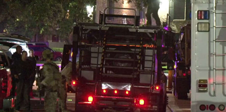 A SWAT standoff in southeast Harris County ended peacefully early Sunday morning.A SWAT standoff in southeast Harris County ended peacefully early Sunday morning. Photo: Metro Video