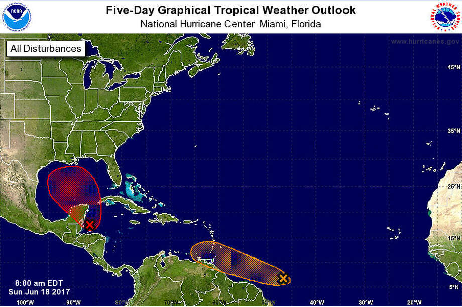 A tropical disturbance could turn into a tropical storm later in the week. Photo: National Hurricane Center