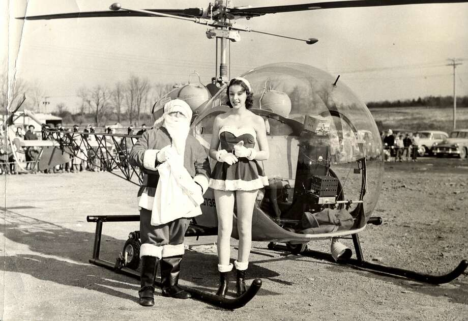 "1950s: A Stewarts Shops helicopter dropped leaflets called ""Perky  Points"" onto nearby neighborhoods to drum up business. (Photo courtesy  of Stewarts Ice Cream Main Office) Photo: Town Of Colonie Historical Society"