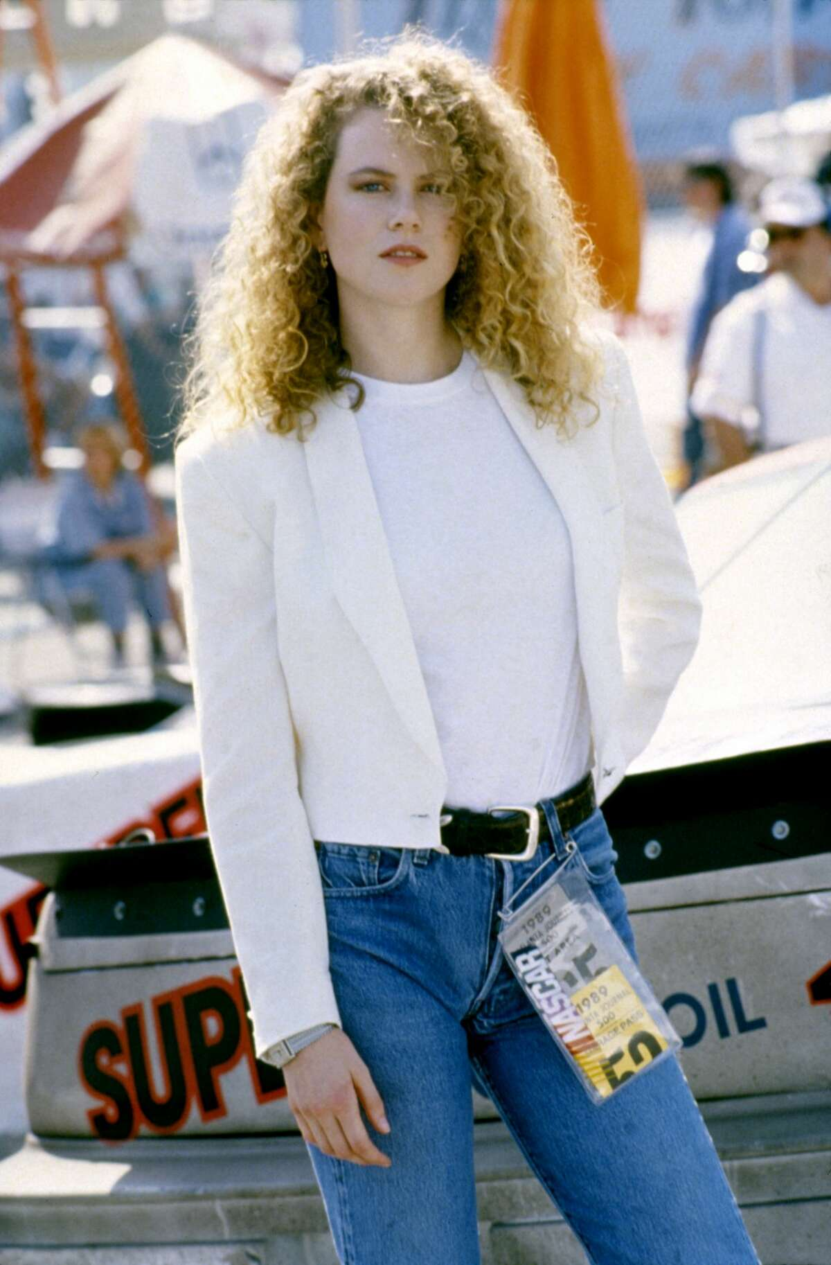 Australian actress Nicole Kidman in 1990 on the set of Days of Thunder, directed by Tony Scott.