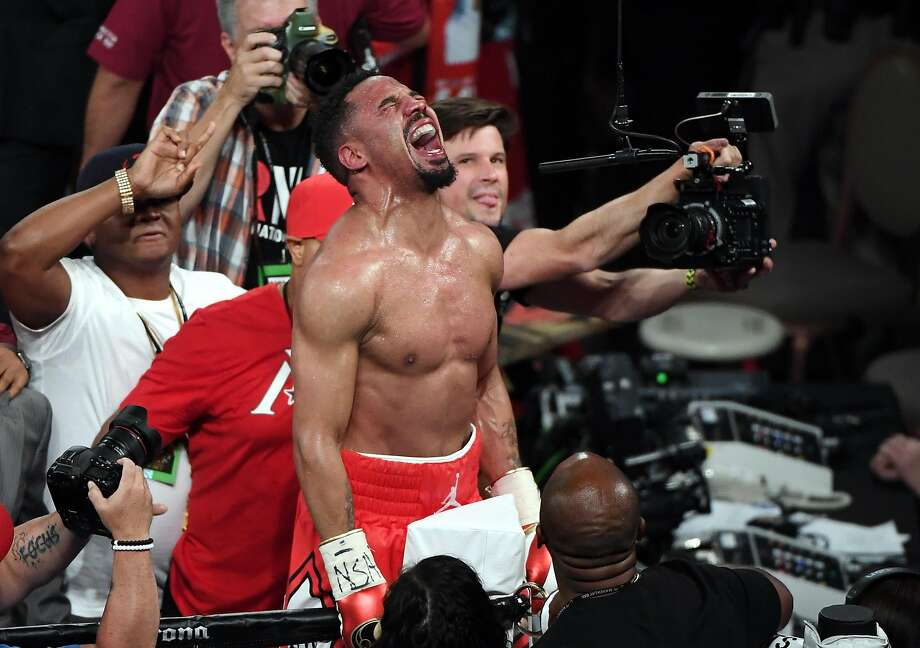 LAS VEGAS, NV - JUNE 17:  Andre Ward celebrates after winning his light heavyweight championship bout against Sergey Kovalev at the Mandalay Bay Events Center on June 17, 2017 in Las Vegas, Nevada. Ward retained his WBA/IBF/WBO titles with a TKO in the eighth round.  (Photo by Ethan Miller/Getty Images) Photo: Ethan Miller